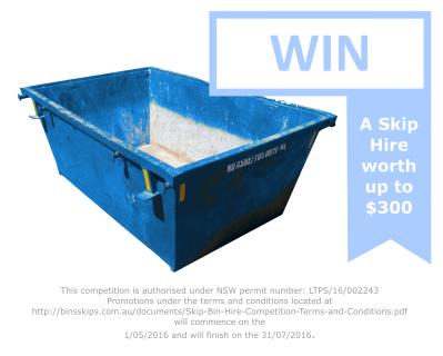 Win a $300 Skip Hire