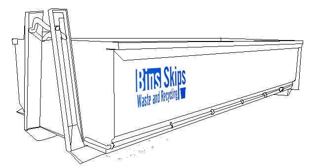 15 cubic meter skip bin