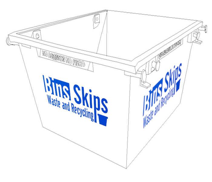2 cubic meter skip bin